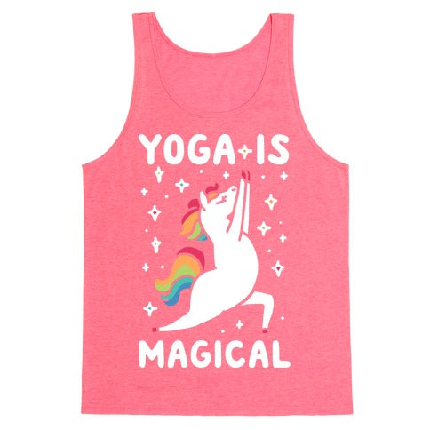 Yoga Is Magical Tank Top - Neon Pink