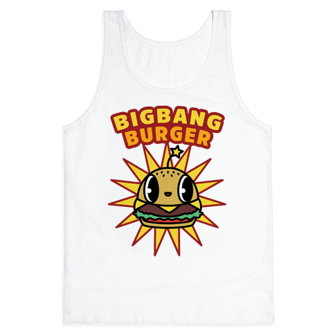 Big Bang Burger Tank Top - White