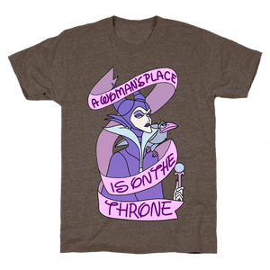 A Woman's Place Is On The Throne T-Shirt - Athletic Brown