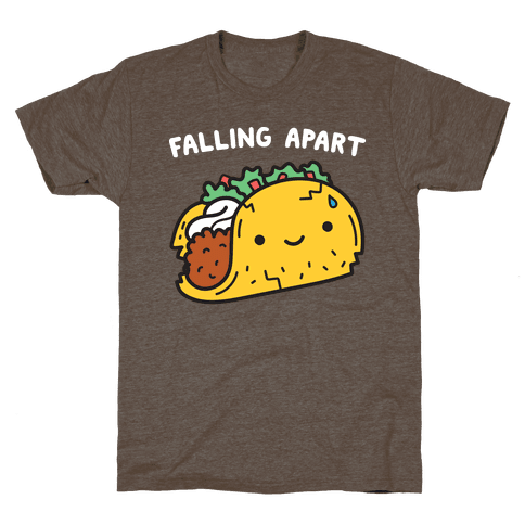 Falling Apart Taco T-Shirt - Athletic Brown