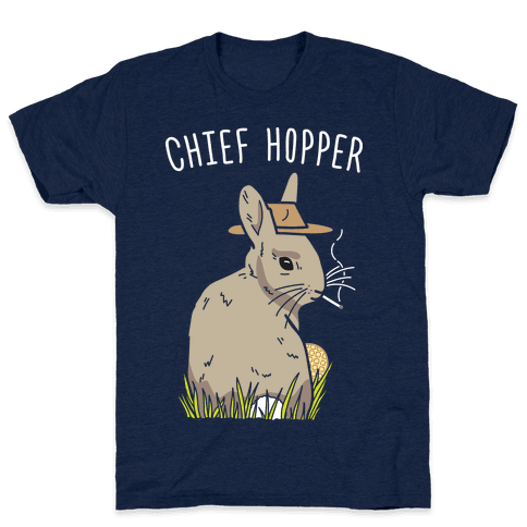 Chief Hopper Parody T-Shirt - Athletic Navy