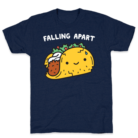 Falling Apart Taco T-Shirt - Athletic Navy