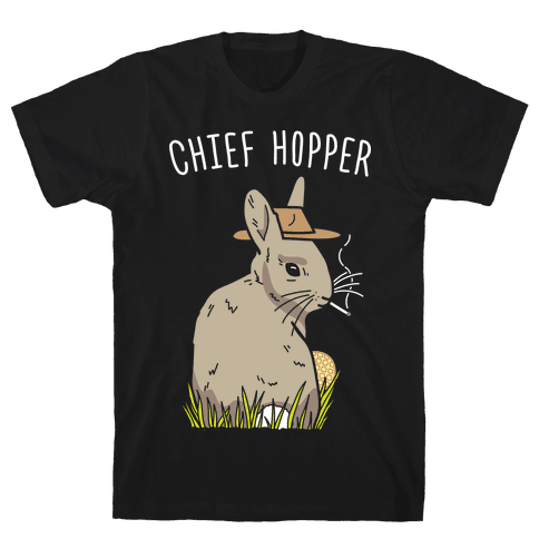Chief Hopper Parody T-Shirt - Black