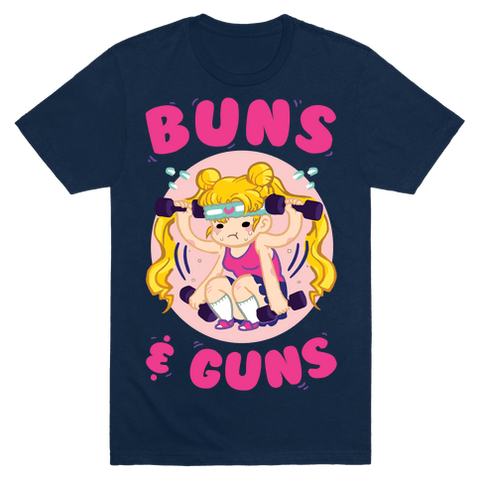 Buns & Guns T-Shirt - Navy