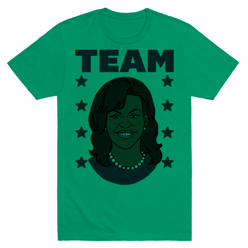 Tag Team Barack & Michelle Obama 2 T-Shirt - Grass
