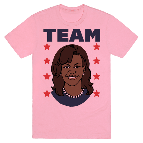 Tag Team Barack & Michelle Obama 2 T-Shirt - Pink