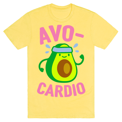 Avocardio T-Shirt - Yellow