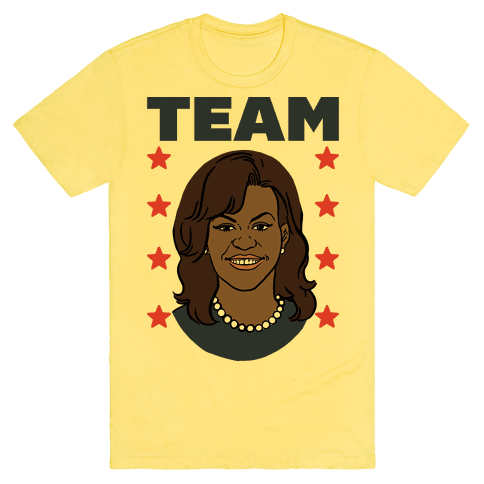 Tag Team Barack & Michelle Obama 2 T-Shirt - Yellow
