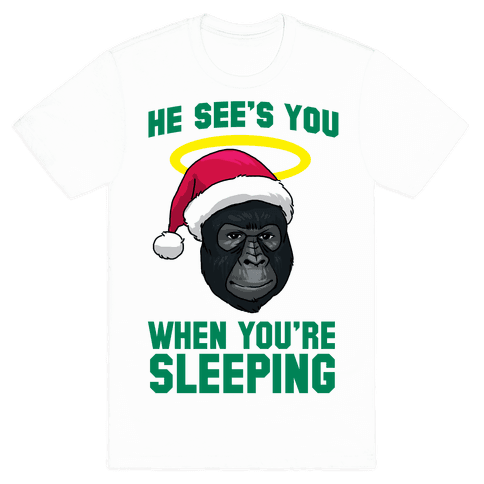 He Sees You When You're Sleeping Tee - White