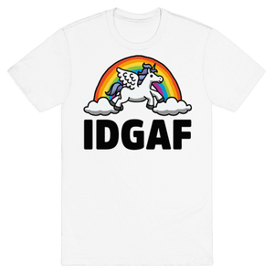 IDGAF (Unicorn) T-Shirt - White