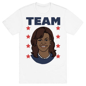 Tag Team Barack & Michelle Obama 2 T-Shirt - White
