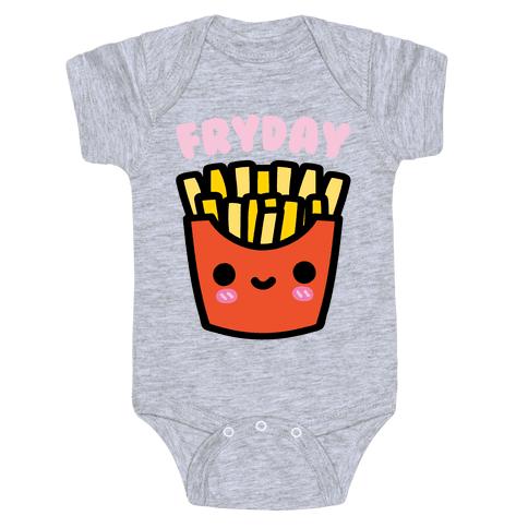 Fryday (French Fries Friday) Infants Onesie - Gray