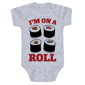 I'm On A Roll Sushi Onesie - Gray