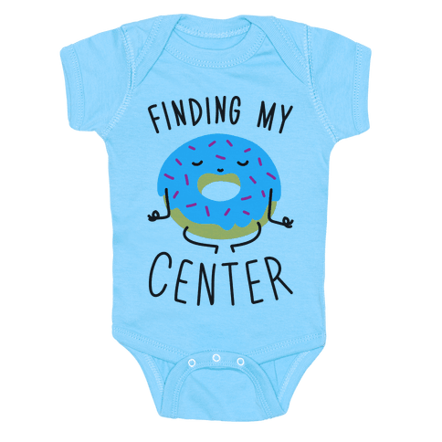Finding My Center Onesie - Baby Blue