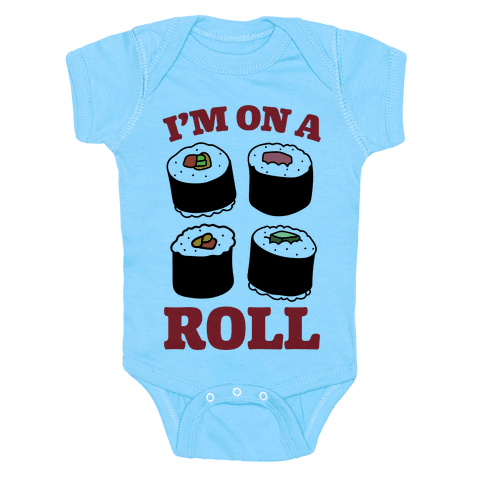 I'm On A Roll Sushi Onesie - Baby Blue