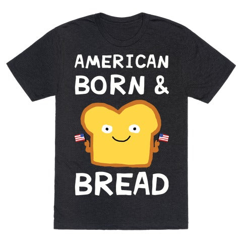 American Born & Bread T-Shirt - Heathered Black