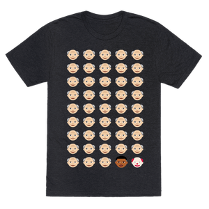 American Presidents Explained By Emojis T-Shirt - Heathered Black