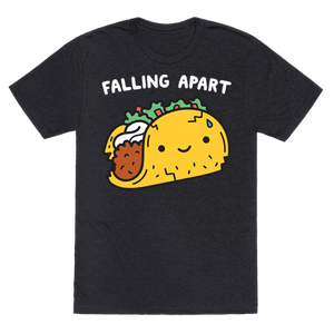 Falling Apart Taco T-Shirt - Heathered Black