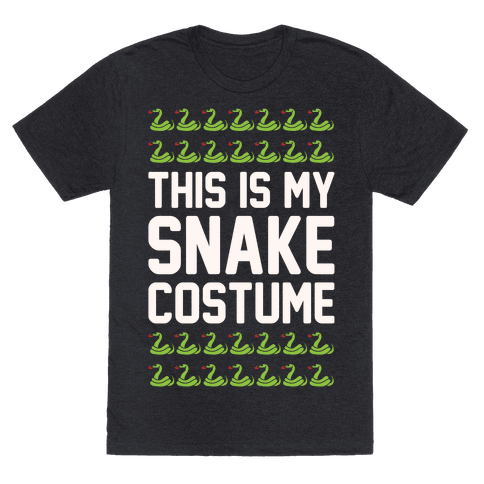 This Is My Snake Costume T-Shirt  - Heathered Black