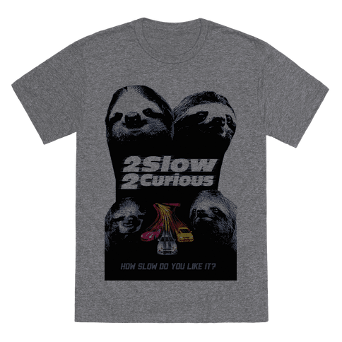2 Slow 2 Curious T-Shirt - Heathered Gray