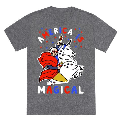 America Is Magical T-Shirt - Heathered Gray