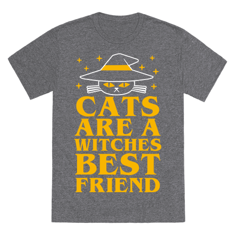 Cats are a Witches Best Friend T-Shirt - Heathered Gray
