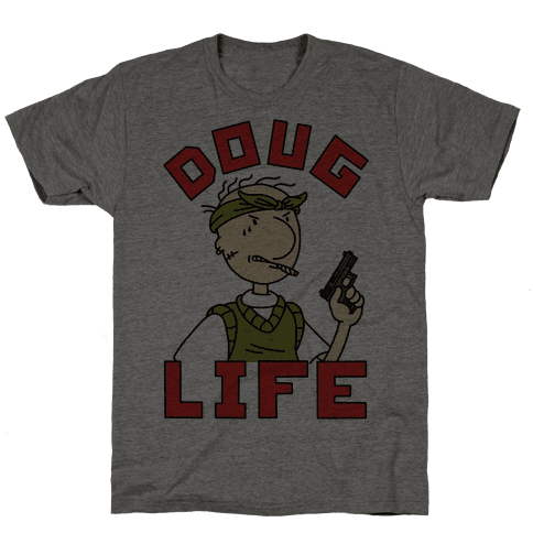 Doug Life T-Shirt - Heathered Gray