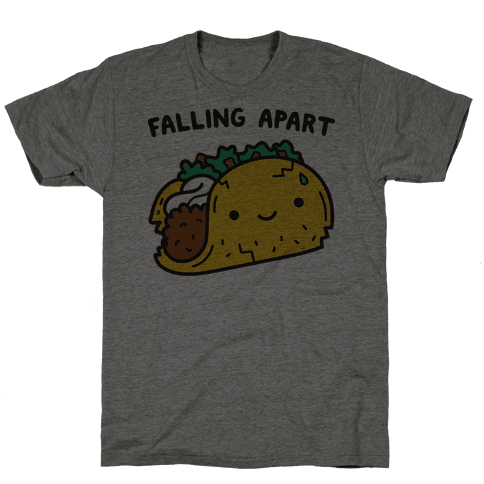 Falling Apart Taco T-Shirt - Heathered Gray