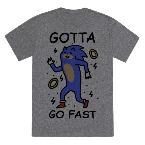 Gotta Go Fast T-Shirt - Heathered Gray
