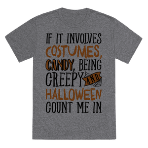 Halloween Count Me In T-Shirt - Heathered Gray
