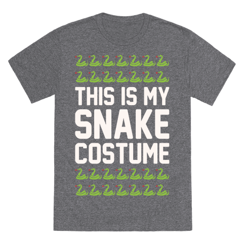 This Is My Snake Costume T-Shirt  - Heathered Gray