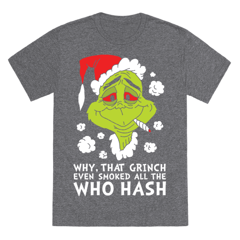 Who Hash T-Shirt - Heathered Gray