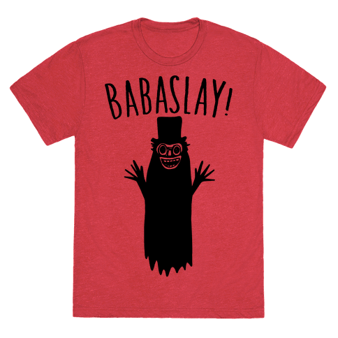 Babaslay Parody T-Shirt - Heathered Red