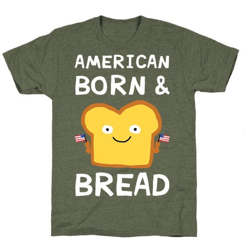 American Born & Bread T-Shirt - Moss