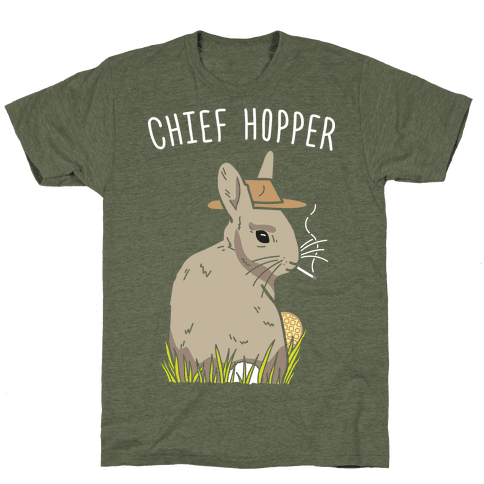 Chief Hopper Parody T-Shirt - Moss