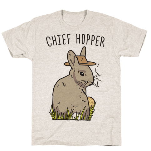 Chief Hopper Parody T-Shirt - Oatmeal
