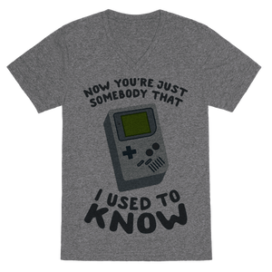 Now You're Just Somebody I Used To Know VNeck T-Shirt - Heathered Gray