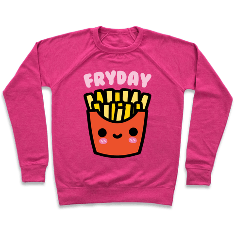 Fryday (French Fries Friday) Sweatshirt - Deep Pink