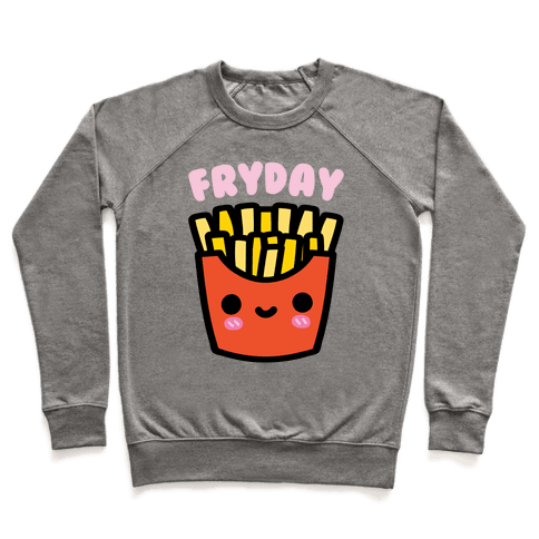 Fryday (French Fries Friday) Sweatshirt - Heathered Gray