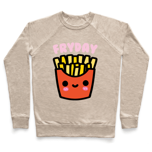 Fryday (French Fries Friday) Sweatshirt - Heathered Oatmeal
