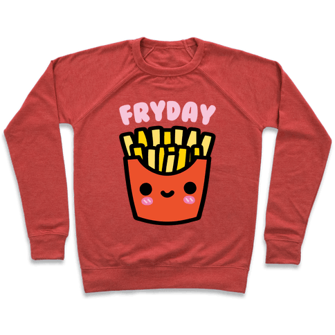 Fryday (French Fries Friday) Sweatshirt - Heathered Red
