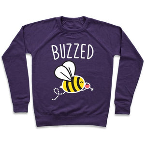 Buzzed Wine Bee Sweatshirt - Purple