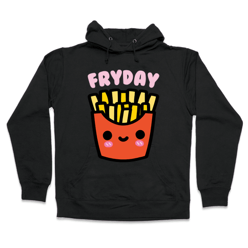 Fryday (French Fries) Hoodie - Black