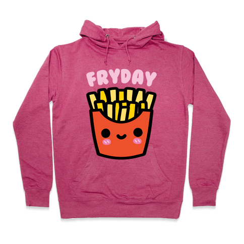 Fryday (French Fries) Hoodie - Deep Pink