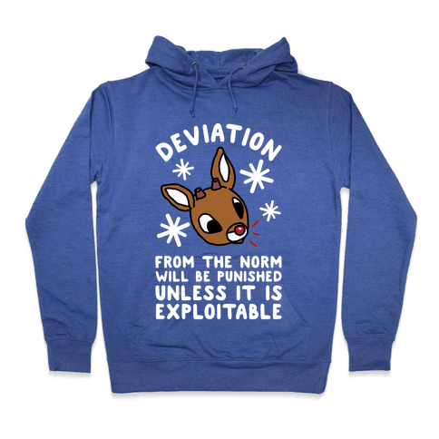 Deviation Rudolf Hoodie - Heathered Blue