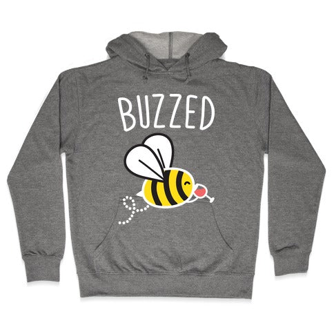 Buzzed Wine Bee Hoodie - Heathered Gray