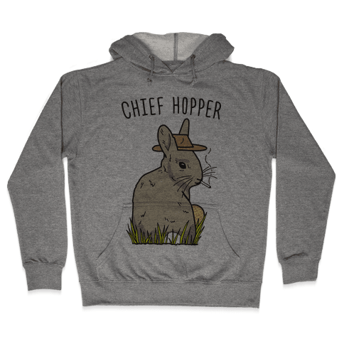 Chief Hopper Parody Hoodie - Heathered Gray