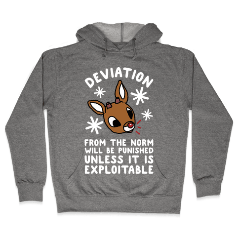 Deviation Rudolf Hoodie - Heathered Gray