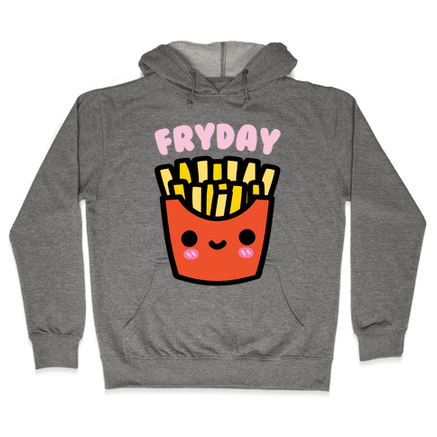 Fryday (French Fries) Hoodie - Heathered Gray