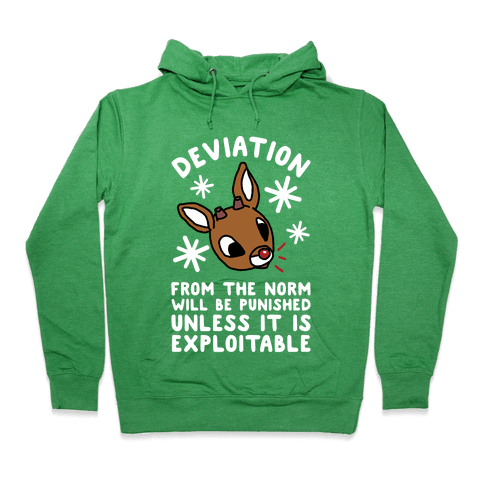 Deviation Rudolf Hoodie - Heathered Kelly